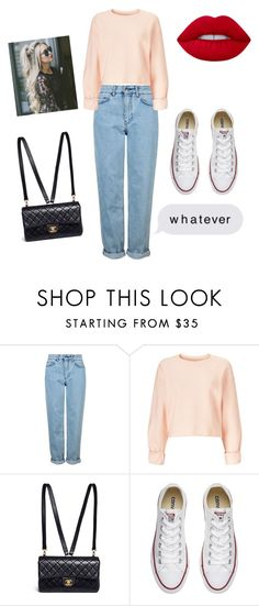 """.."" by gustavia5347 ❤ liked on Polyvore featuring Topshop, Miss Selfridge, Chanel, Converse and Lime Crime"