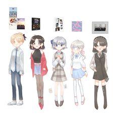 Anime Chibi, Anime Art, Seventeen Memes, Cartoon Fan, Kpop Drawings, Seventeen Wallpapers, Day Wishes, Kpop Fanart, Boy Art