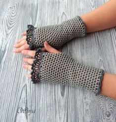 Crochet fingerless gloves cotton fingerless gloves by OnGoodLuck