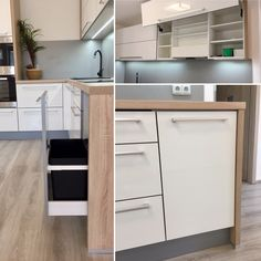 Moderní kuchyň,dub Bardolino  Egger H1145 bílý lesk Blum aventos