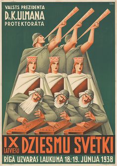 National Song and Dance Festival. Latvia, 1938. Latvia, Northern Europe