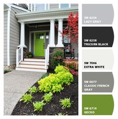 """Classic French Gray"" and ""Lazy Gray"" Paint colors from Chip It! by Sherwin-Williams"