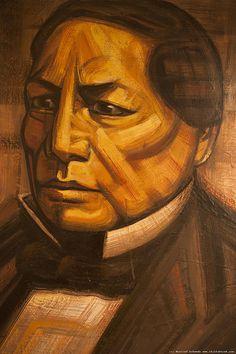 Benito Juárez por David Alfaro Siqueiros, Palacio Nacional, Centro Histórico de la Ciudad de #México