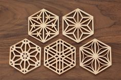 This design has got radial features to it as it centres from the middle and transform outwards, it also has balance to it. Serger Patterns, Fabric Patterns, Japan Design, Wood Crafts, Diy And Crafts, 3d Cnc, Arabic Pattern, Islamic Patterns, Japanese Woodworking