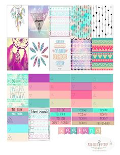 Tabatha Nicolee: Free Stickers printables for Happy Planner