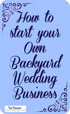 How to start an event venue business plan way down deep inside i ebook how to start and run a wedding venue in your own backyard junglespirit Image collections