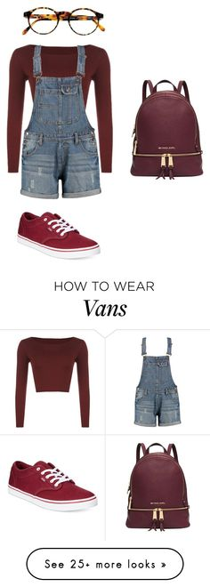 """Untitled #1033"" by qveenkyndall16 on Polyvore featuring WearAll, Michael Kors, François Pinton and Vans"