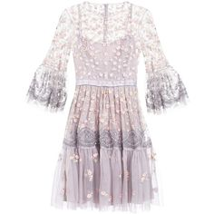 Needle Thread CLIMBING BLOSSOM DRESS Cocktail dress Party dress (46725 RSD) ❤ liked on Polyvore featuring dresses, pink dress, blossom dress, pink flower dress, flower dress and pink cocktail dress
