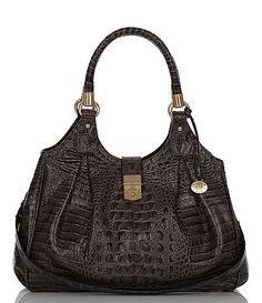 I love this Brahmin handbag! I have it in black leather/patent weave.