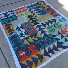 Fantastic flying geese quilt in Alison Glass Handcrafted More