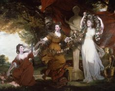 Sir Joshua Reynolds 'Three Ladies Adorning a Term of Hymen', 1773