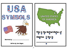 2 American Symbol Emergent Readers -   This is a set of 2 emergent readers focused on the American symbols. The readers cover the American Flag, the Bald Eagle, The Statue of Liberty, the Liberty Bell, and Mount Rushmore. There is:  1 - reader with all words to highlight sight words and touch points for one to one  1 - reader with missing words and missing symbol meanings for fill in the blank and touch points for one to one