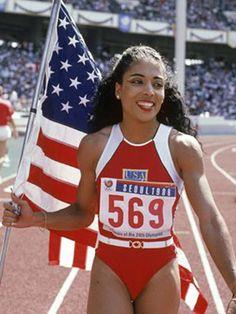the best to ever do. florence joyner.  World Record holder  100m(10.49), 200(21.34)