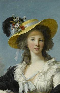 Louise-Elisabeth Vigée Le Brun Yolande-Gabrielle-Martine de Polastron, duchesse de Polignac (1749-1793)(détail)