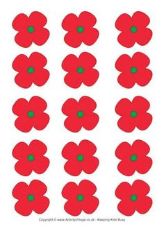 Remembrance Day - poppies for a wreath or game … Remembrance Day Posters, Remembrance Day Activities, Remembrance Day Poppy, Craft Activities For Toddlers, Toddler Crafts, Elderly Activities, Dementia Activities, Sensory Activities, Poppy Template