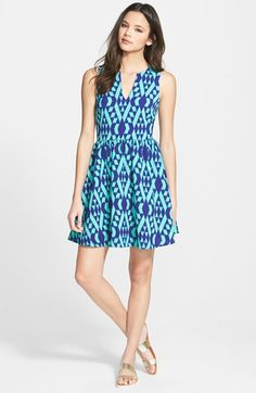 EVERLY+Print+Skater+Dress+available+at+#Nordstrom