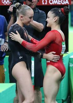 Pin for Later: 14 Times Laurie Hernandez Totally Owned the 2016 Summer Olympics When She Showed Off Sportsmanship by Congratulating the Gold-Medal Winner