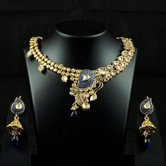 Exquisite Gold-tone and Diamond Necklace Collection