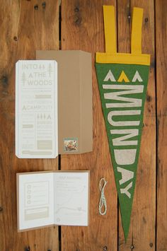 a case of the mundays: tues-diy: camp pennant party favors