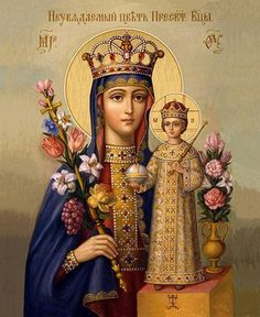 Madonna And Child Religious Art by Christian Art Divine Mother, Blessed Mother Mary, Blessed Virgin Mary, Religious Images, Religious Icons, Religious Art, Madonna Und Kind, Madonna And Child, Images Of Mary