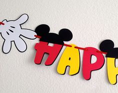 Custom Mickey Mouse Birthday Party Banner with di DivaDecorations