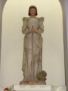 Auguste Carli (1868-1930) - Jeanne d'Arc. Polychrome Statue. Marseille, France. Circa 1914.