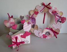 バレンタインリースと3Dカード by:cori♪ #スタンプ