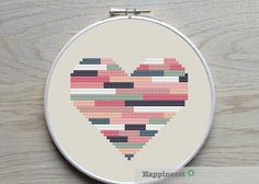 3 geometric modern cross stitch heart patterns, hearts, set of PDF pattern… Heart Patterns, Beading Patterns, Embroidery Patterns, Cross Stitch Heart, Simple Cross Stitch, Embroidery Hearts, Cross Stitch Embroidery, Modern Cross Stitch Patterns, Cross Stitch Designs