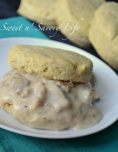 Vegan gluten free biscuits... and sausage gravy!