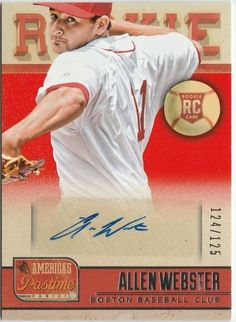 2013 Panini America's Pastime Rookie Autographs #259 Allen Webster 124/125 Auto #BostonRedSox