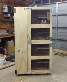Bunny hutch ready to be put in rabbitry shed! Husbands 1st !!