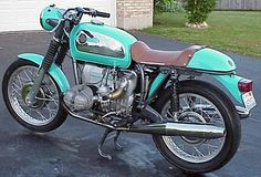 1971 BMW R75/5 Cafe Racer and its tourquoise :). I will have this before the year is over!