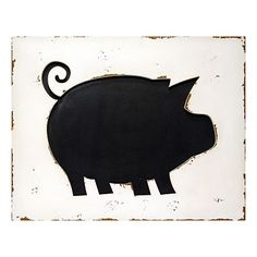 Pig Silhouette Wall Art