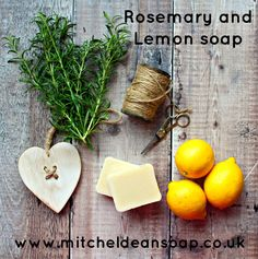 Rosemary and Lemon handmade soap bar, bursting with fragrance and natural ingredients. Made using the traditional cold process method and then hand sliced and hand wrapped by Mitcheldean Soap.