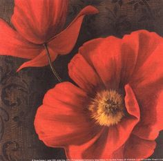 Rouge Poppies II - petite