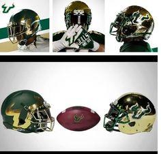 e4378b8a5 Usf new chrome helmets 2014 season. Beastmode · College football helmets