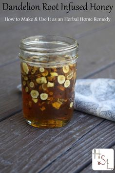 Make the most of fall's healing roots by making dandelion root infused honey to help the body flush toxins and aid digestion.
