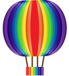 """Photo from album """"Радуга, свет"""" on Yandex. Rainbow Colors, Vibrant Colors, Colours, Colorful, Rainbow Wall, Hot Air Balloon, Cross Stitch, Clip Art, Black And White"""