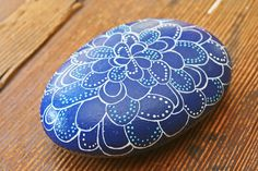 Merigold or an Ocean Anemone in Blues and White by RockingJCrafts