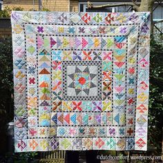 Love this quilt by Nicolette from DutchComfort using my Flying Fish and Raspberry Kiss blocks.