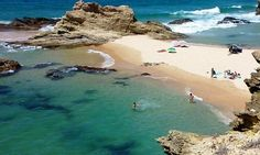 Porto Côvo, Alentejo, Portugal Considered one of the most beautiful beaches in the world by the Huffington Post. Porto Portugal Beach, Places In Portugal, Visit Portugal, Portugal Travel, Most Beautiful Beaches, Beautiful Places To Visit, Places To Travel, Places To See, Road Trip Europe
