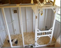 gorgeous chicken coop mansion by The Vintage Bag Lady