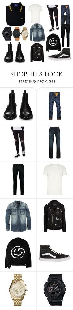 """""""look natural hombre"""" by yoalani-sacrifice-salvatore on Polyvore featuring Fred Perry, Givenchy, Topman, Armani Jeans, River Island, GUESS, Vans, Michael Kors, G-Shock y Skagen"""