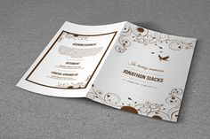 Funeral Program Template-T489 by @Graphicsauthor