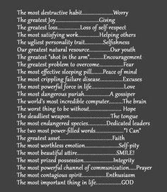 True & Absolutely Inspiring!