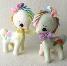 Pony in feltro