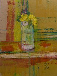 Wildflowers / oil,cardboard