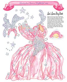 Costume worn by Lana Turner in Ziegfeld Girl plus berry bombe dessert. Page 3 of 8 Pages. By David Wolfe, Paperdollywood. Available for purchase at paperdollreview.com