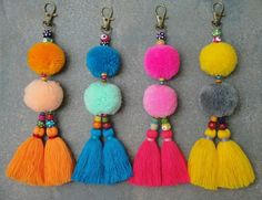 Tassels PomPom Wooden Beads Bag Charm - BOHO Chic - Purse Accessories - Tote Charm - Hand bag accessories Gifts for teens Items similar to Tassels PomPom Wooden Beads Bag Charm - BOHO Chic - Purse Accessories - Tote Charm - Hand bag accessories on Etsy Diy Bags Purses, Diy Purse, Pom Pom Crafts, Beaded Bags, Christmas Fashion, Wooden Beads, Bag Accessories, Computer Accessories, Pom Poms
