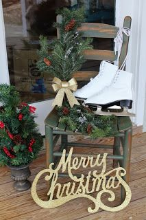 Welcome Chair with ice skates